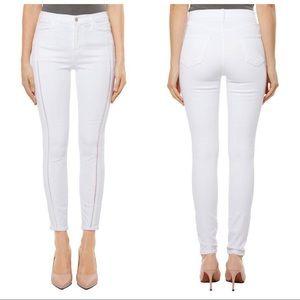 J Brand Alana White High Waist Crop Skinny Jeans